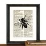 Bee Art Print - Mothers Day..